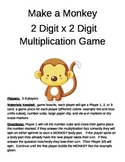 Make a Monkey  Multiplication 2 Digit x 2 Digit Game