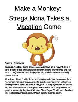 Make a Monkey- Strega Nona Takes a Vacation Game