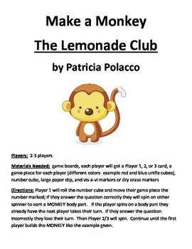 Make a Monkey The Lemonade Club by Patricia Polacco