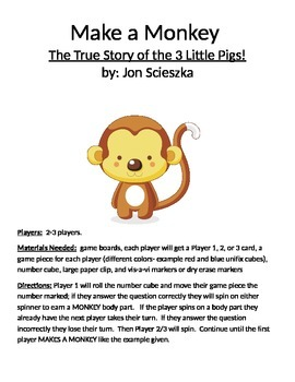 Make a Monkey: The True Story of the 3 Little Pigs! by Jon Scieszka