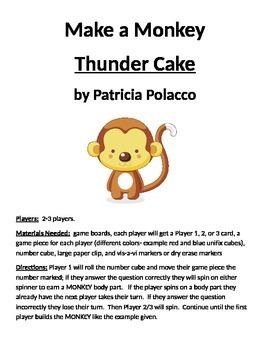 Make a Monkey: Thunder Cake by Patricia Polacco
