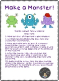 Make a Monster! 1st Grade Reading/Descriptive Writing Activity