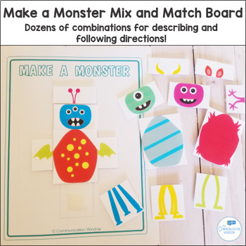 Make a Monster - Pronouns, Attributes, Following Directions!