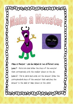 Make a Monster- Roll and draw Add and Subtract to Make a M
