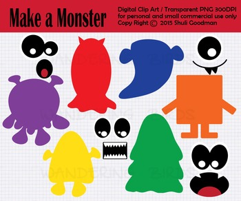 Make a Monster clip art