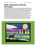 Make a Mountain Landscape Art Project