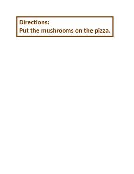 Make a Mushroom Pizza File Folder Game with Velcro