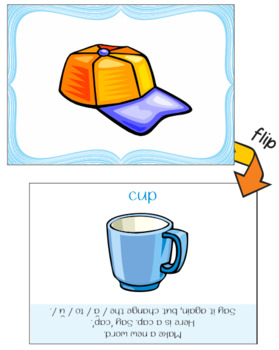 Make a New Word: Change the Vowel Sound [Phonemic Awareness FlipCards, Set 3A]