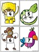 Make a Number Line - Numbers to 20 - Rainforest Animals Set