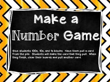 Make a Number Math Center Task Cards