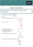 Make a Paper Star of David for Yom Ha'atzmaut (Israeli Ind