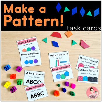 Make a Pattern! 36 Task Cards for Patterning for Kindergarten Math Centers