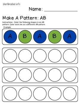 Make a Pattern: AB