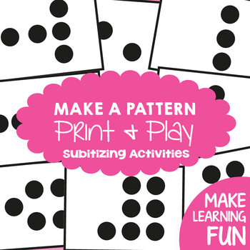 Subitizing - Make a Pattern - Number Game for Subitizing