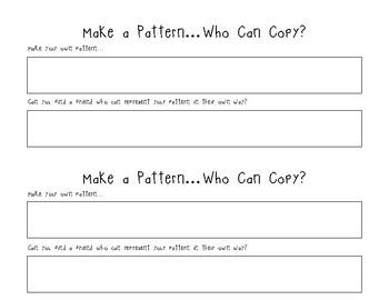 Make a Pattern - Who Can Copy?