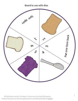 Peanut Butter Sandwich Games for Learning Preschool, Kindergarten, Special Ed