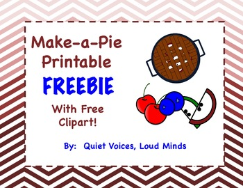 Make a Pie FREEBIE - Apple, Blueberry, and Cherry pie printable activity