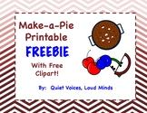 Make a Pie FREEBIE - Apple, Blueberry, and Cherry pie prin