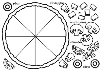 pizza coloring pages for preschool - photo#13