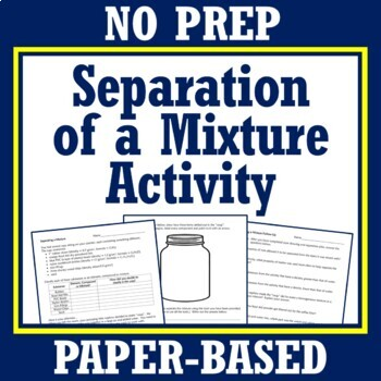 Make a Plan to Separate a Mixture CHALLENGE Activity NGSS MS-PS1
