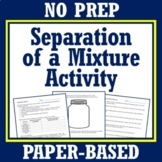 Make a Plan to Separate a Mixture Activity Project NGSS MS-PS1