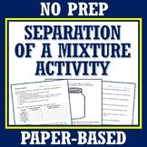 NO PREP Classifying Matter Activity Make a Plan to Separat