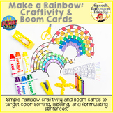 Make a Rainbow - Craftivities and Boom Cards for Distance