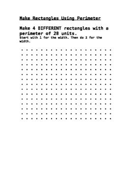 Make a Rectangle using Perimeter