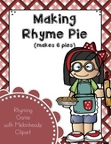 Make a Rhyme Pie Game (Melonheadz Style) for RtI