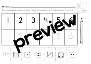 Subitizing & Early Number Game {Make a Row}