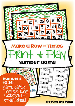 Make a Row Times - Math Center Game for Multiplication