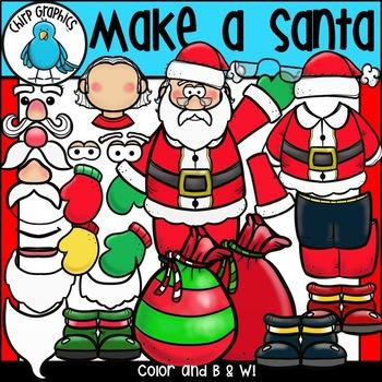 Make a Santa Clip Art Set - Chirp Graphics