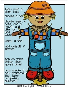 Make a Scarecrow Clip Art Set - Chirp Graphics