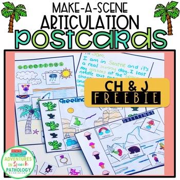 Make a Scene Articulation Postcards FREEBIE Ch & J Sound