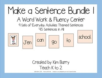 Make a Sentence Bundle - Set 1  45 Sentences