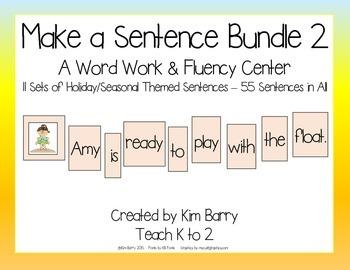 Make a Sentence Bundle - Set 2  55 Sentences
