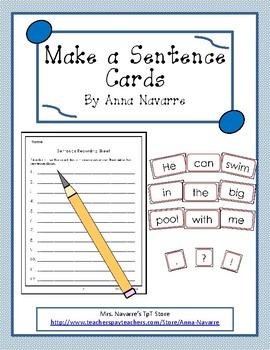 Make a Sentence Cards