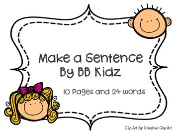 Make a Sentence Correctly with Sight Words for Kindergarten or First Grade