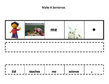 Autism: Make a Sentence Cut and Paste