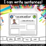 I Can Write Sentences! Distance Learning Packet