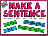 Make a Sentence: Naming and Telling Parts
