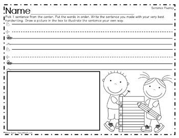 Make a Sentence Set 10 - Autumn Edition