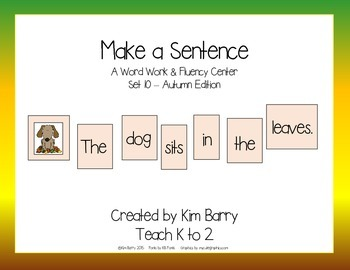 Make a Sentence Set 10 - Autumn Edition