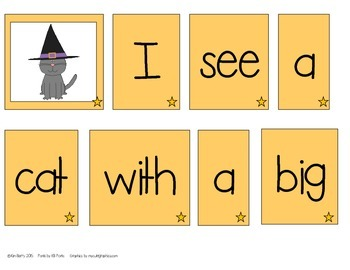 Make a Sentence Set 11 - Halloween Edition