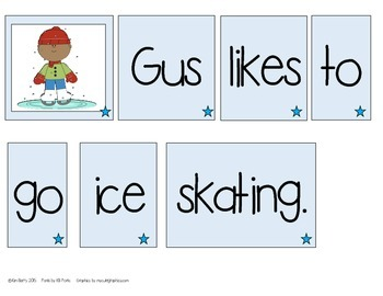 Make a Sentence Set 14 - Winter  Edition