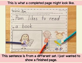 Make a Sentence Set 15 - Valentine's Day  Edition