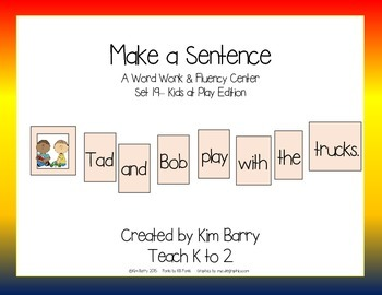 Make a Sentence Set 19 - Kids at Play Edition