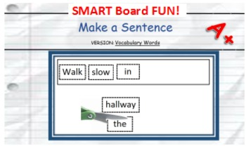 Make a Sentence - Smart Board Activity