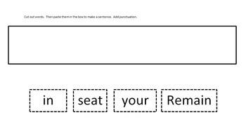 Make a Sentence- Grade 1 Vocabulary Words