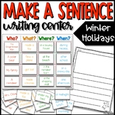 Make a Sentence Writing Center - Holiday FREEBIE!
